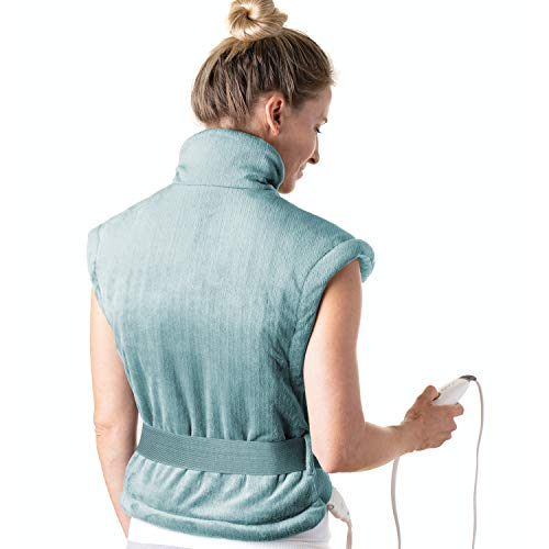 Pure Enrichment® PureRelief™ XL Heating Pad for Back & Neck - Heat Therapy for Muscle Pain in Neck, Back & Shoulders - Ideal for Cramps and Sore Muscles - Auto Shut-Off