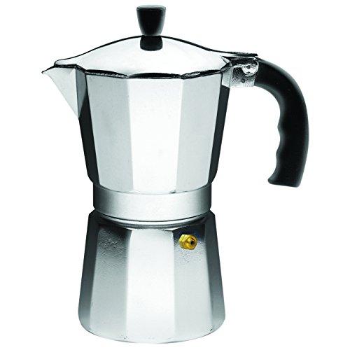 IMUSA USA B120-43V Aluminum Espresso Stovetop Coffeemaker 6-cup, Silver