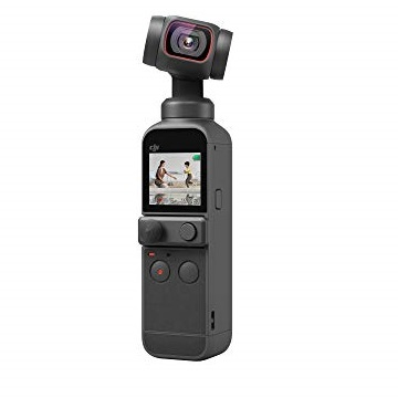 "DJI Pocket 2 - Handheld 3-Axis Gimbal Stabilizer with 4K Camera, 1/1.7"" CMOS, 64MP Photo, Pocket-Sized, ActiveTrack 3.0, Glamour Effects, YouTube Video Vlog, for Android and iPhone"
