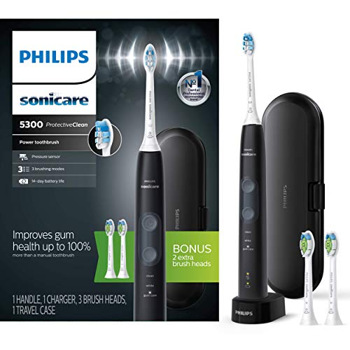 Philips Sonicare HX6423/34 ProtectiveClean 5300 Rechargeable Electric Toothbrush, Black