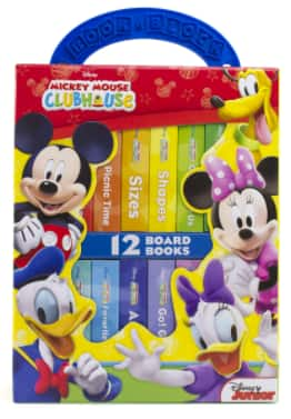 12-Book Disney Junior Mickey Mouse Clubhouse My First Library Board Book Set