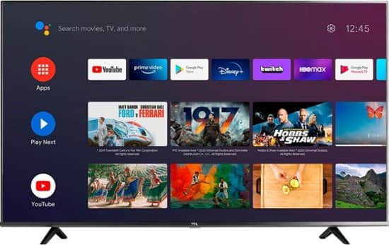 """55"""" TCL 55S434 4K UHD HDR Smart Android LED TV"""