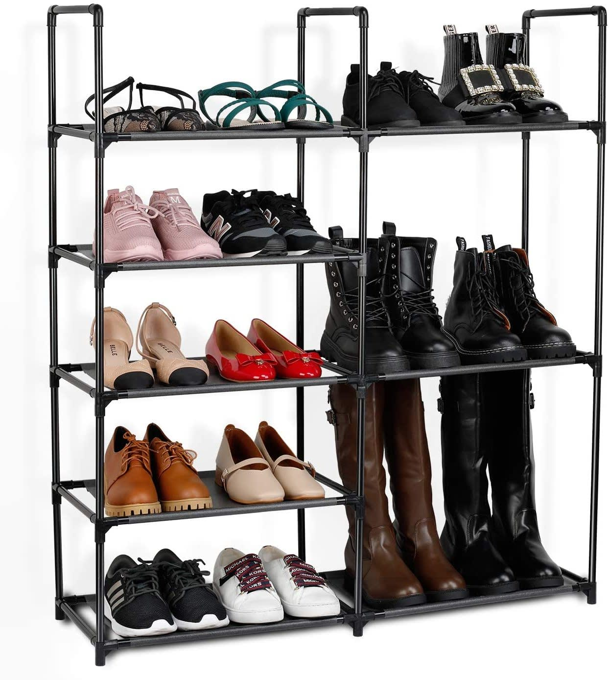 Jakpas 5-Tier Shoe Rack Storage Organizer
