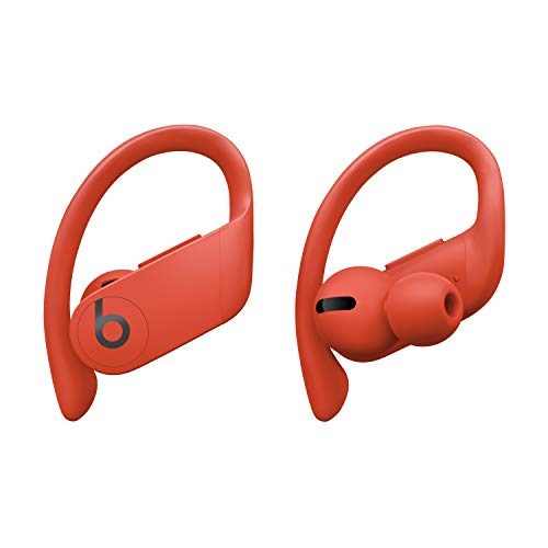 Powerbeats Pro Totally Wireless Earphones – Apple H1 Headphone Chip, Class 1 Bluetooth, 9 Hours of Listening Time, Sweat-Resistant Earbuds – Lava Red
