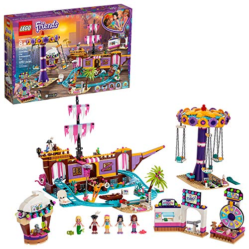 LEGO Friends Heartlake City Amusement Pier 41375 Toy Rollercoaster Building Kit with Mini Dolls and Toy Dolphin, Build and Play Set includes Toy Carouse  and more (1,251 Pieces)