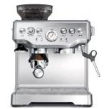 Breville BES870XL半自动咖啡机,带磨豆器