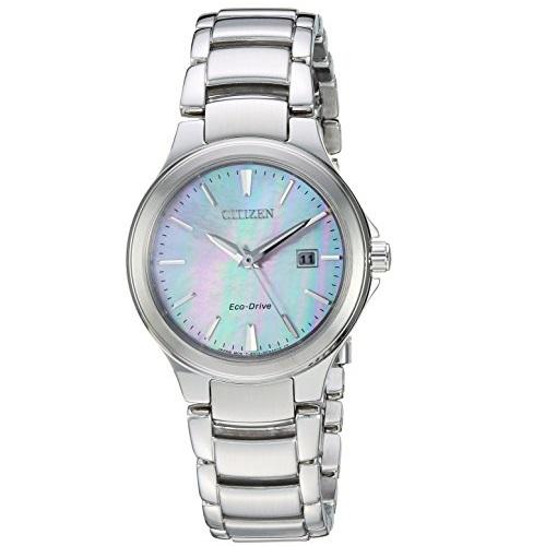 CITIZEN 西铁城 Chandler系列 EW2520-56Y 女士 珍珠贝母表盘 不锈钢 光动能腕表