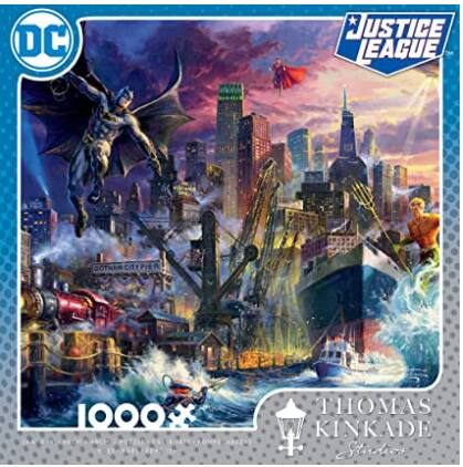 1000-Pc Ceaco Thomas Kinkade DC Justice League Showdown Jigsaw Puzzle
