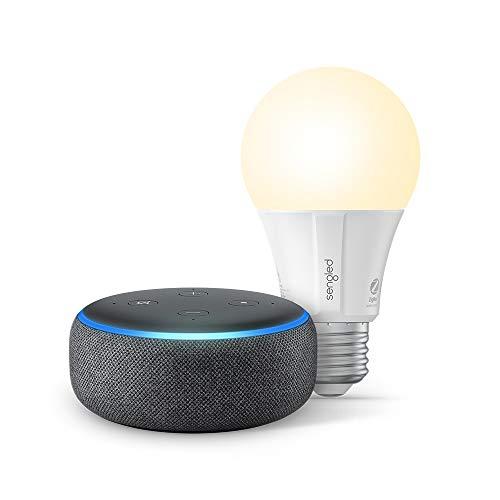大降!史低价!Echo Dot 第3代 + Sengled 蓝牙智能灯泡 套装 多色可选