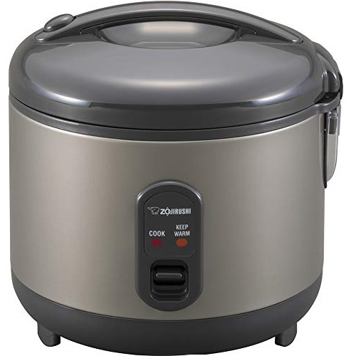 Zojirushi NS-RPC10HM Rice Cooker and Warmer, 1.0-Liter, Metallic Gray