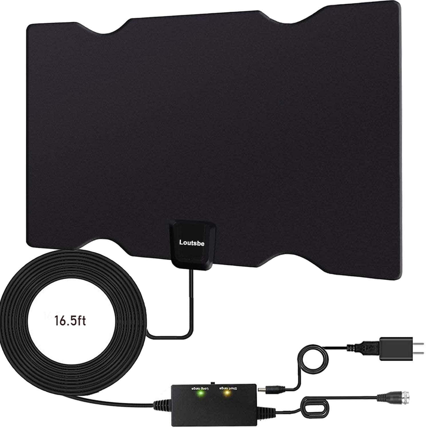 Loutsbe 80-Mile Amplified HDTV Antenna