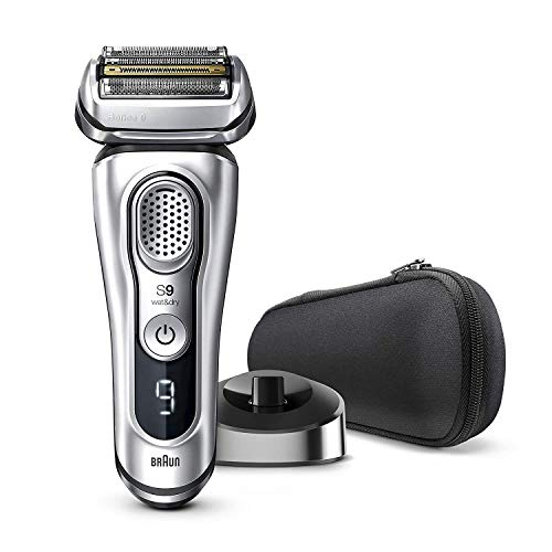Braun Electric Razor for Men, Series 9 9330s Electric Shaver, Pop-Up Precision Trimmer, Rechargeable, Wet & Dry Foil Shaver with Travel Case
