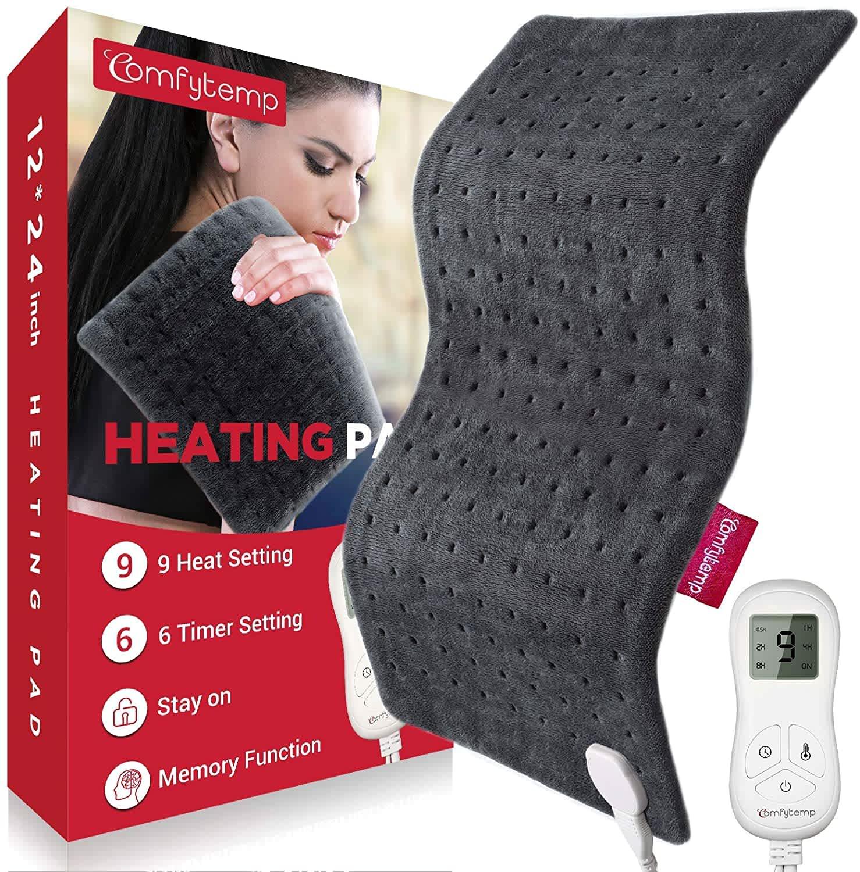 "AlierGo Comfytemp XL 24"" x 12"" Electric Heating Pad"