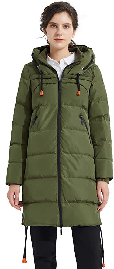 Orolay Women's Down Hooded Jacket