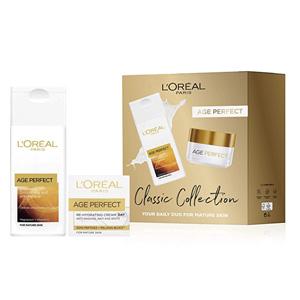 补货小降!L'Oréal Paris巴黎欧莱雅Age Perfect礼盒装 洁面200ml+日霜50ml