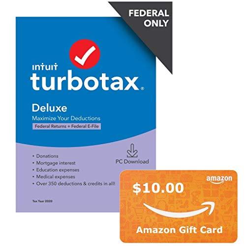 金盒特价!TurboTax  Deluxe 2020报税软件 +