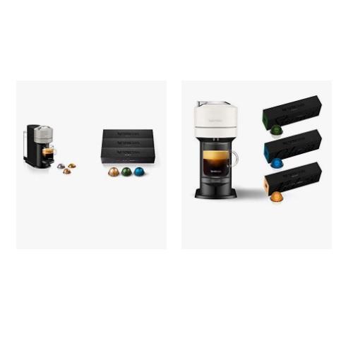金盒特价!Nespresso Vertuo Next胶囊咖啡机 和咖啡套餐促销