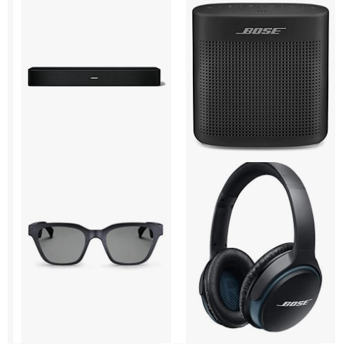 Save up to 39% on Bose Headphones, Speakers and Home Audio