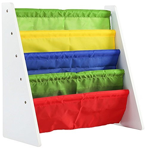 Humble Crew, White/Primary Kids Book Rack Storage Bookshelf