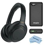 Sony WH-1000XM4 Noise Cancelling Headphones + 20,000mAh Battery Pack