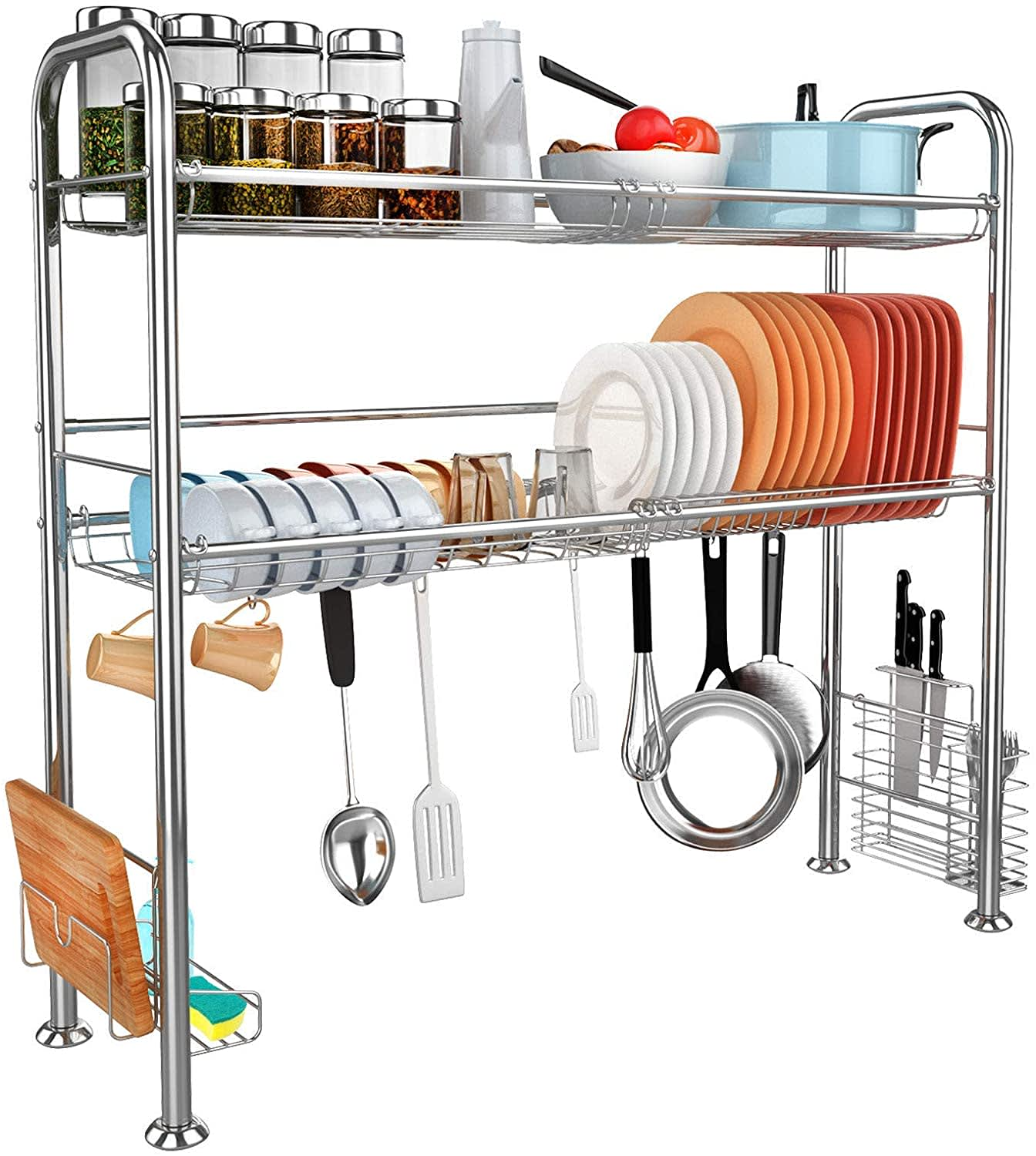 Jzbrain 2-Tier Over The Sink Drying Rack