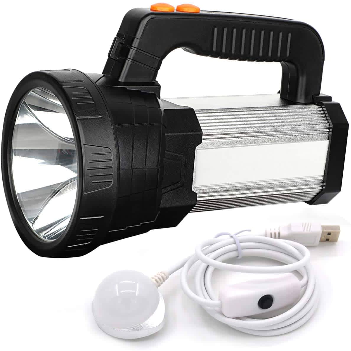 BigSun USB Rechargeable LED Flashlight