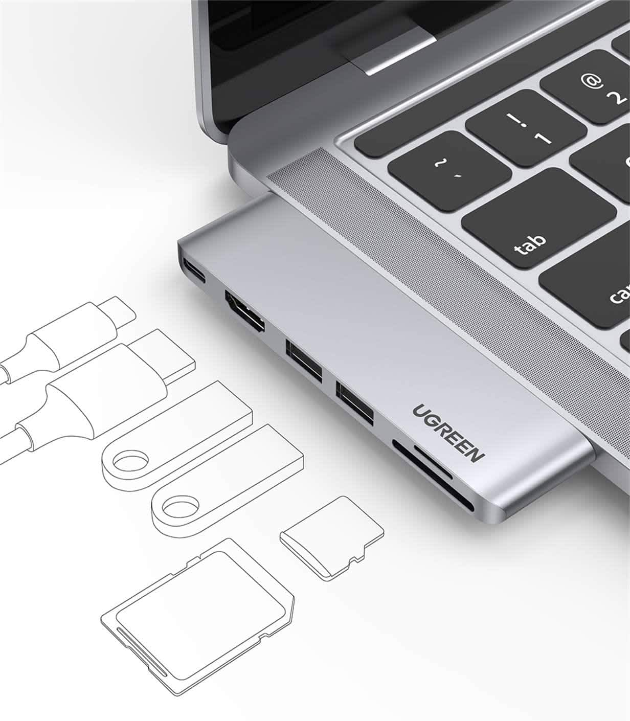 UGREEN USB C Hub for MacBook Pro/Air