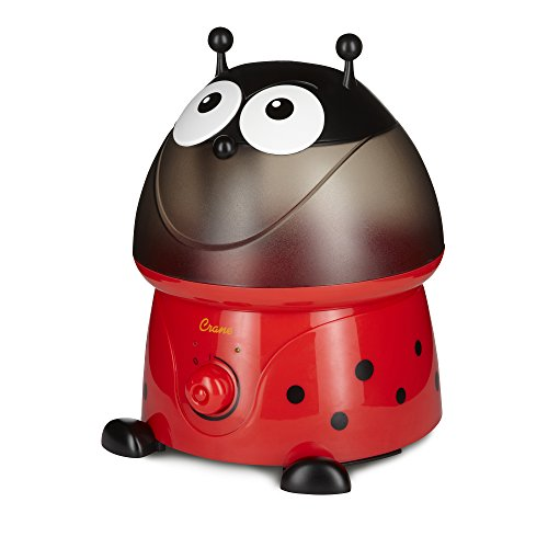 Crane Adorables Ultrasonic Cool Mist Humidifier, Filter Free, 1 Gallon, 24 Hour Run Time, Whisper Quite, for Home Bedroom Baby Nursery and Office, Lady Bug