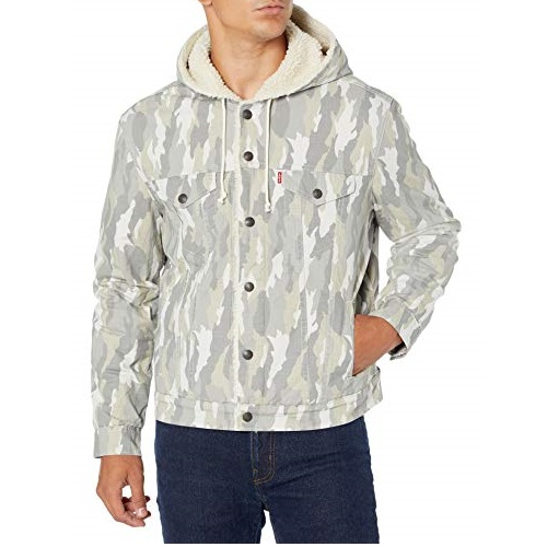 Levi's mens Hooded Sherpa Trucker Jacket