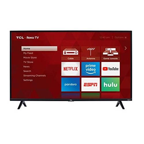 史低价!TCL 32S327 1080p 32吋 Roku 智能电视机
