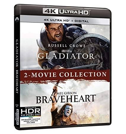 Gladiator/Braveheart 2-Movie Collection (4K Ultra HD Blu-ray + Digital)