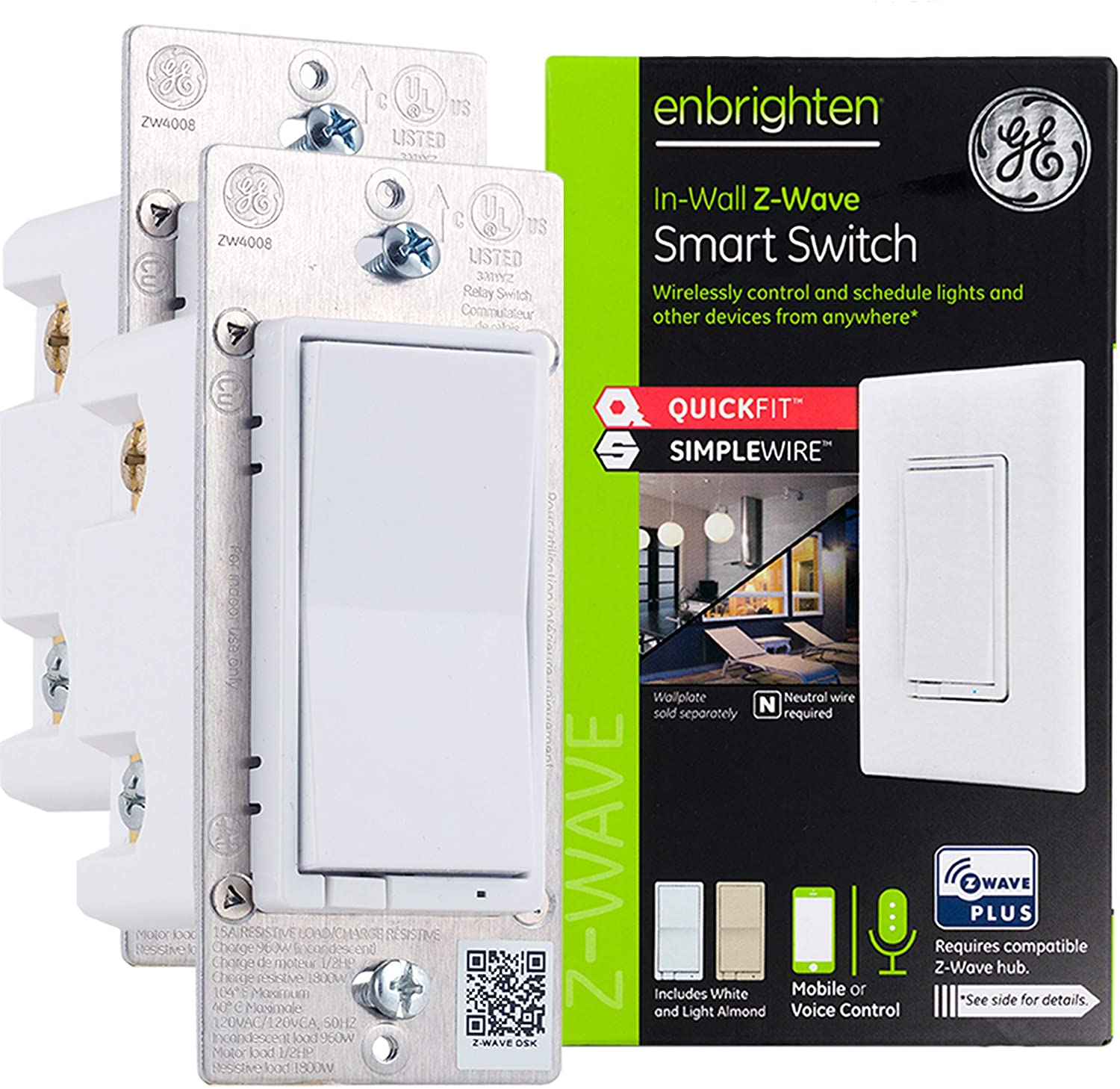 2-Pack GE Enbrighten Z-Wave Smart Switches (47900)