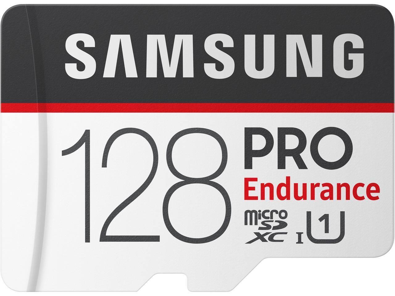 128GB Samsung Pro Endurance U1 microSDXC Memory Card w/ Adapter
