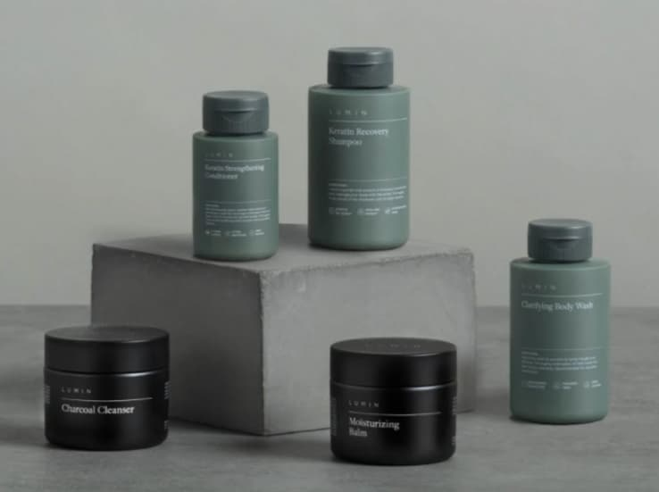 Lumin Men's Premium Skincare Modern Bathroom Set