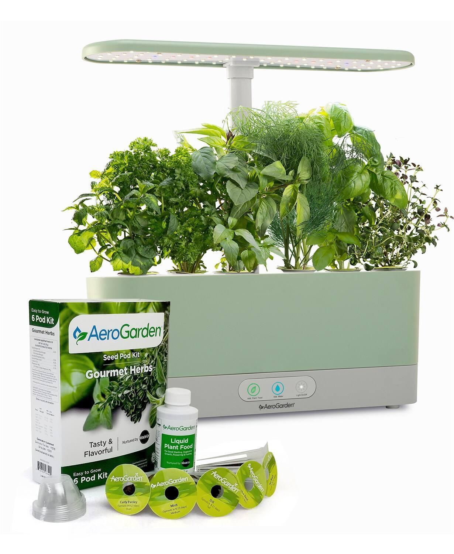 AeroGarden Harvest Slim w/ Gourmet Herbs Seed Pod Kit