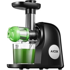 Juicer Machines, Aicok Slow Masticating Juicer Extractor Easy to Clean, Quiet Motor & Reverse Function, BPA-Free, Cold Press Juicer with Brush