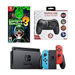 Nintendo Switch Luigi's Mansion 3 Game & Console Bundle