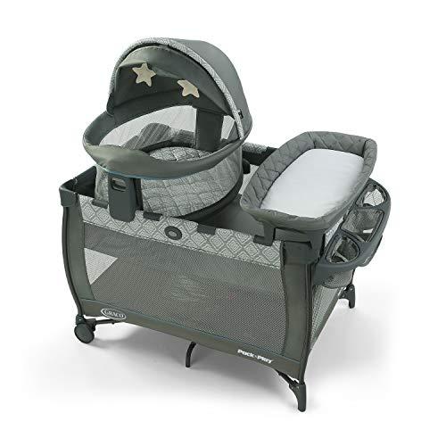 史低价!Graco葛莱 多功能婴幼儿游戏床/睡觉床/尿布更换台,带便携摇篮