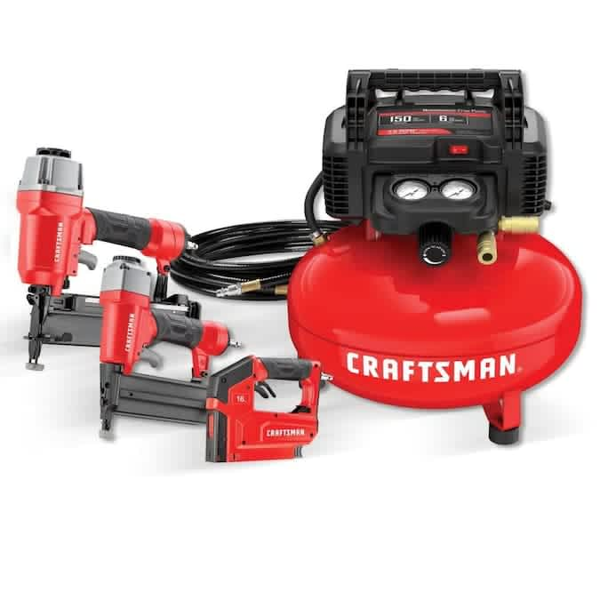 Craftsman 6-Gallon Portable Electric Pancake Air Compressor w/ 3 Tools