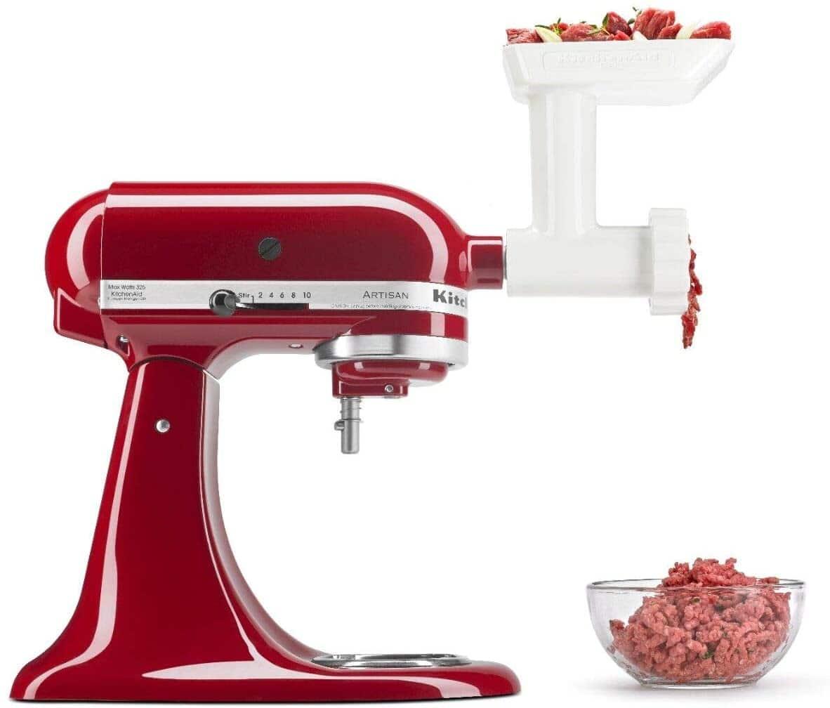 Kitchenaid Stand Mixer Attachments: Metal Food Grinder $60, Plastic Food Grinder