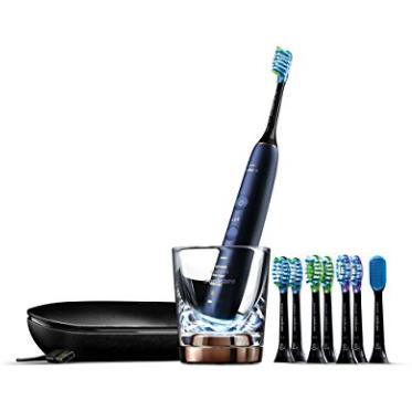 史低价!Philips Sonicare DiamondClean 智能蓝牙电动牙刷,带8个刷头,HX9957/51