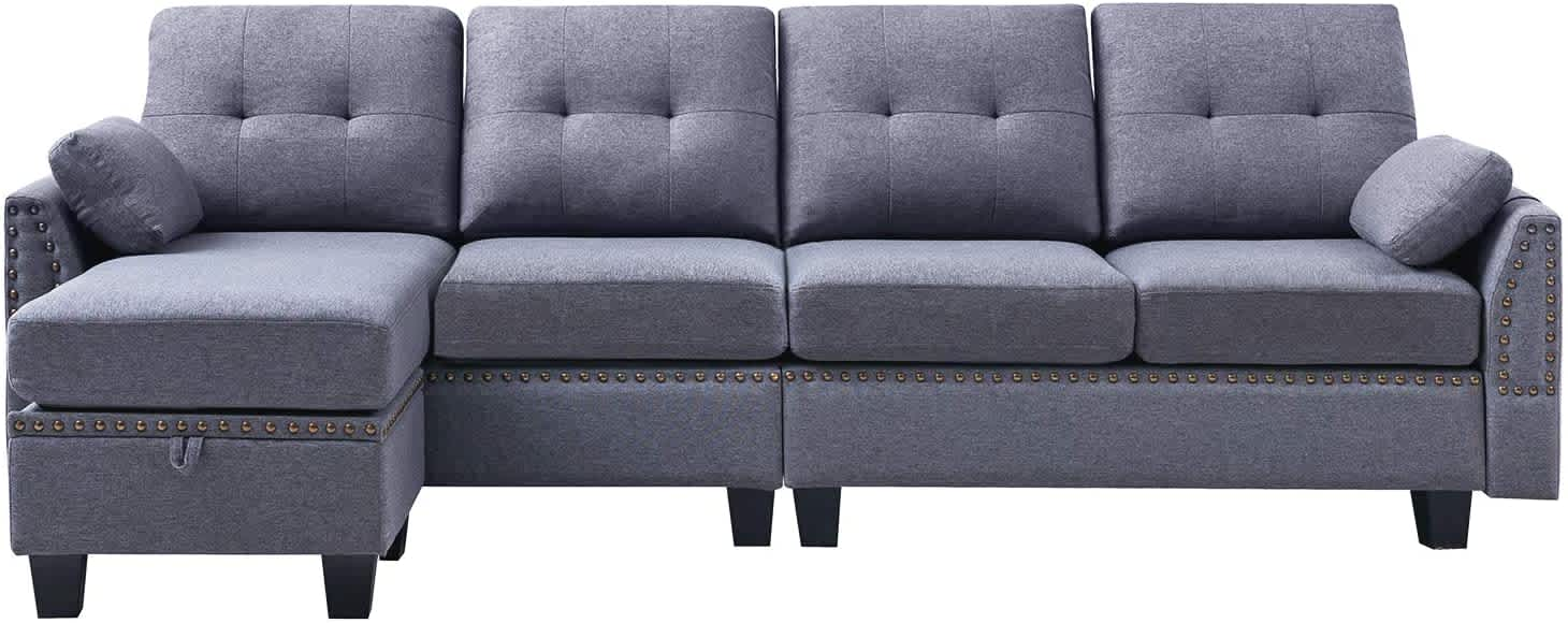 HONBAY L-Shaped Sectional Couch