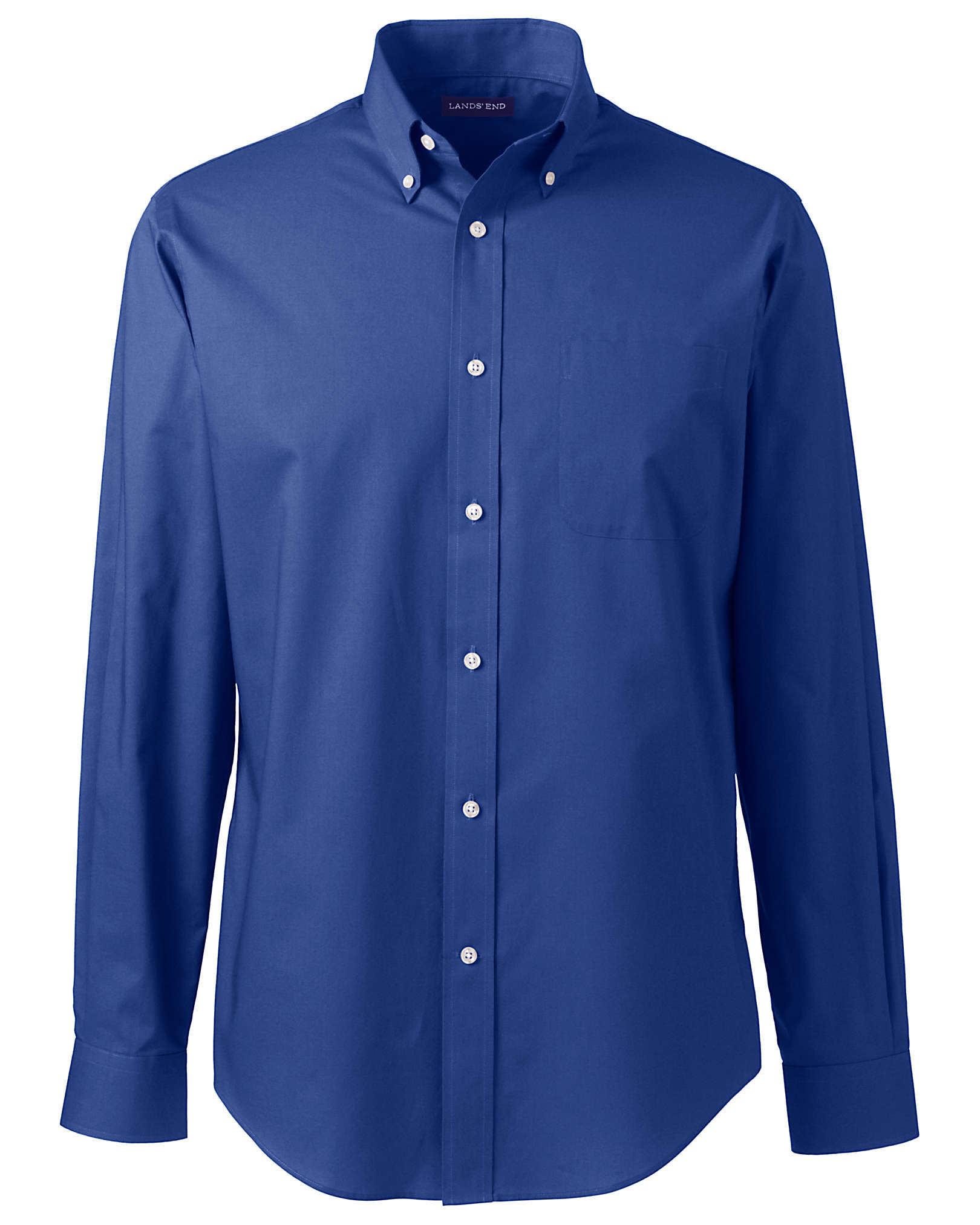 Lands' End Men's Long Sleeve Poplin Shirt
