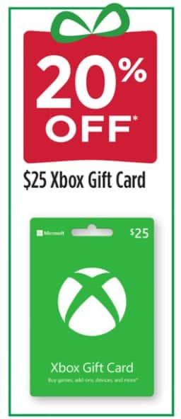Dollar General Stores: 20% Off $25 Xbox Gift Card (Physical Card)