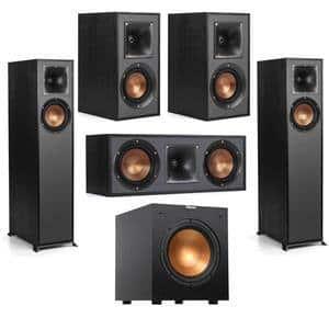 Klipsch Speaker Bundle: R-610F (Pair) + R-41M (Pair) + R-52C + R-10SW