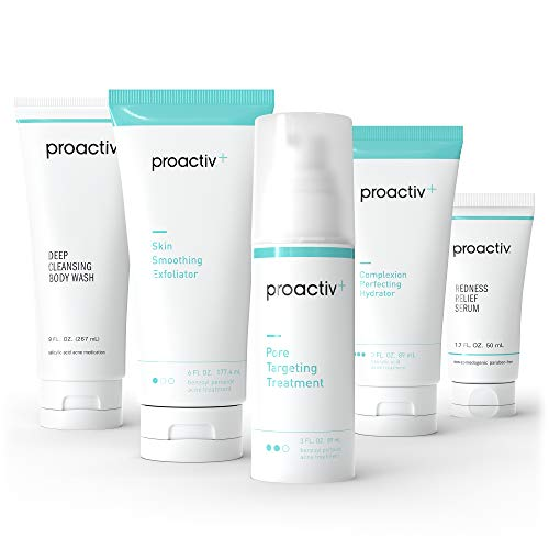 Proactiv+ 3 Step Advanced Skincare Acne Treatment - Benzoyl Peroxide Face Wash, Salicylic Acid Exfoliator For Face And Pore Minimizer - 90 Day Complete Acne Skin Care Kit
