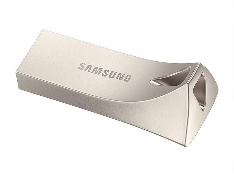 64GB Samsung BAR Plus Metal USB 3.1 Flash Drive (Champagne Silver)