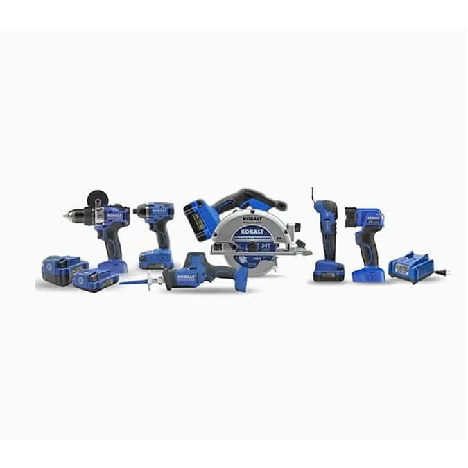 Kobalt 24V Max 6-Tool Brushless Power Tool Combo Kit