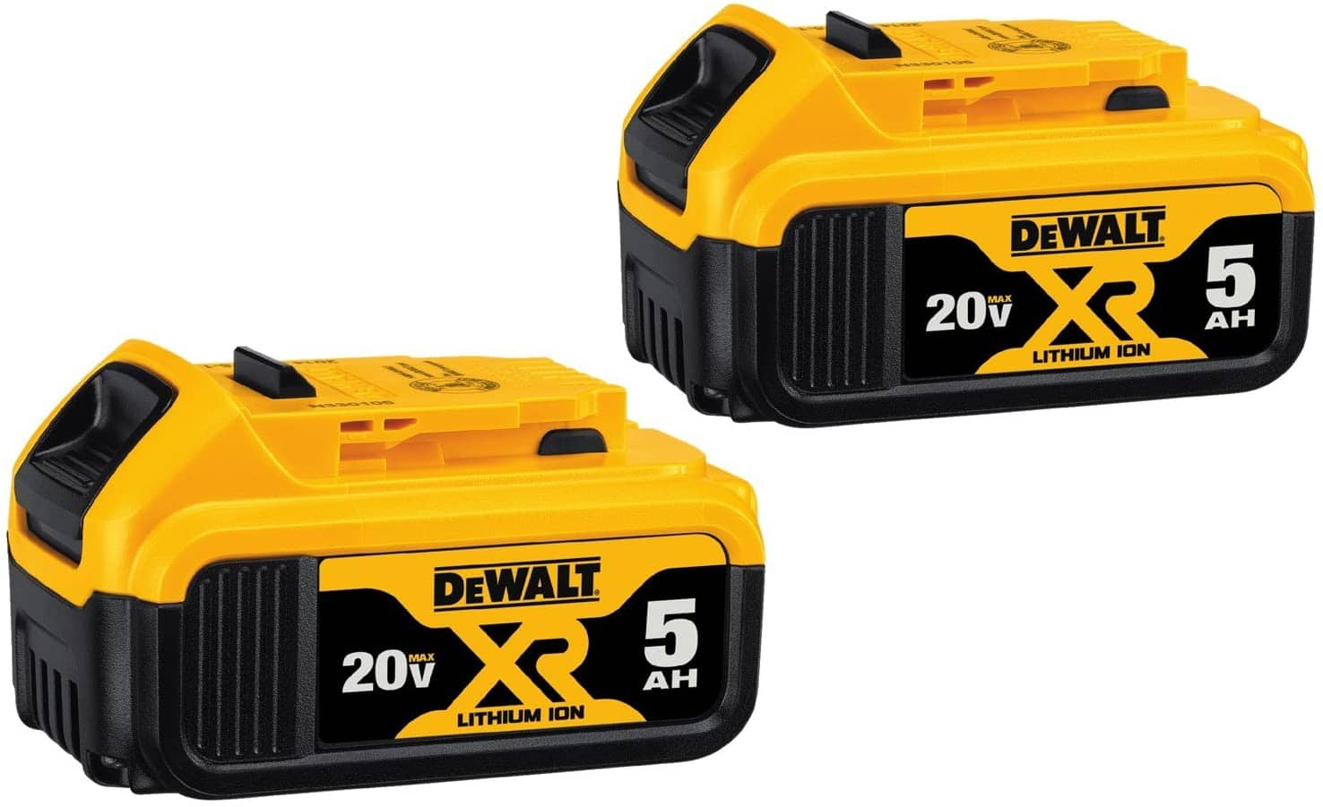 2-Pack DeWALT DCB205-2 MAX XR 20V 5.0-Ah Battery