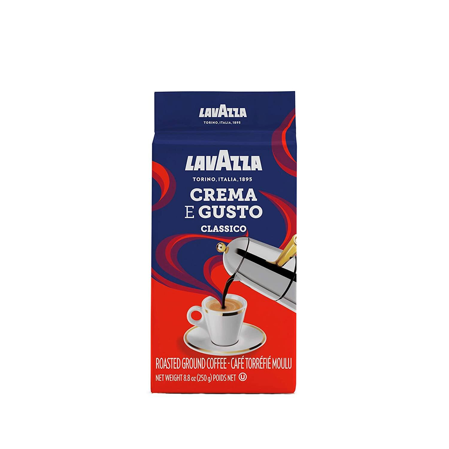 4-Pack 8.8oz. Lavazza Crema e Gusto Ground Coffee Blend (Espresso Dark Roast)